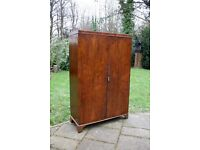 Antique Edwardian Mahogany Double Door Wardrobe