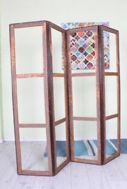 DELIVERY OPTIONS - ANTIQUE BEDROOM SCREEN DIVIDER, NEEDS TO BE RECOVERED
