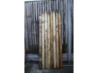 Round wooden posts - 1.8M (5.9ft) x 75mm (3inch) treated fence posts - brand new!