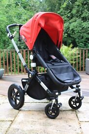 Bugaboo Cameleon 3 Red/Black Excellent Condition