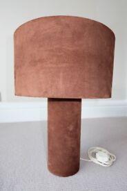 Italian designer lampshade - Brown Faux Suede