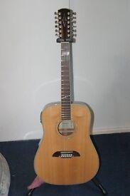 Alvarez AD60S/12 12 String Acoustic Guitar with Gator Case.