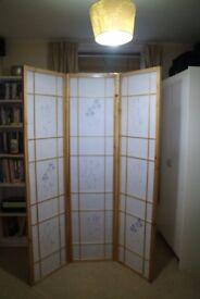 Room Divider Screen, Japanese Shoji – Natural, 3 Panels
