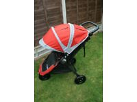 Baby Jogger City Mini GT Red / Gray Pushchairs Single Seat Stroller New logo CAN POST