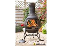 Cast Iron mesh Chimenea Chiminea - La Hacienda BNIB
