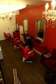 Hair and beauty salon fully equipped for rent