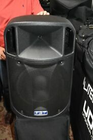 For Sale Pair FBT J Series 12A speakers with covers
