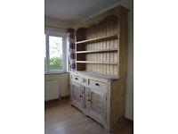 Old stripped pine farmhouse dresser