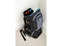 LittleLife Child Carrier (Voyager) - black, grey and turquoise