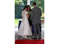 LouLou Size 12 Tea dress style 100% Raw Silk Wedding Dress