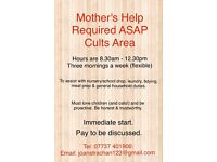 Mothers Help Required