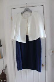Navy & Cream Dress & Jacket