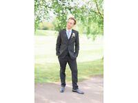 Next Charcoal Wedding Suit (3 Piece)