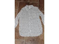 H & M Heart Girls Blouse Age 12-13 years BRAND NEW