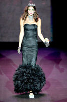 BETSEY JOHNSON LONG BLACK MERMAID GOWN