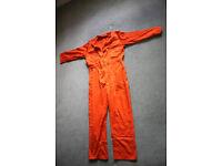 Orange jumpsuit/overalls, great for work or fancy dress!