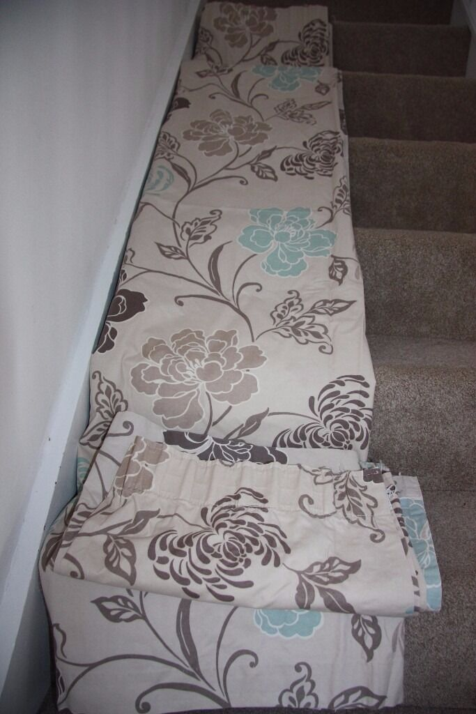 Floral cream, duck egg and brown pair of curtains, W 156 x H 180 cm/ 61,5x71 inin Norwich, NorfolkGumtree - Cream, duck egg and brown floral curtains. Dimensions approximatelly W 156 x H 180 cm/ 61,5x71 in. Used but in very good condition. Low price for quick sale. Collection only from NR5 8XN Please check your spam box for reply