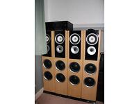 Kenwood KA3020 amp & 4x TDL speakers