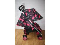 Cosatto Supa Dupa Twin Pushchair - Flamingo Fling (pink & black) ---CAN POST---