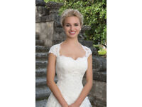 Lace and Tulle Ball Gown with Queen Anne Neckline
