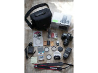 Canon DSLR bundle with Lens,Flash,Filters,Case,Baterries +more@ Boxed ,excellent condition,guarantee