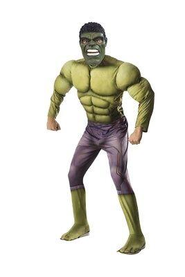 Erwachsene Herren Unglaubliche Hulk Avengers 2 Age Of Ultron Deluxe - Herr Unglaubliche Kostüm