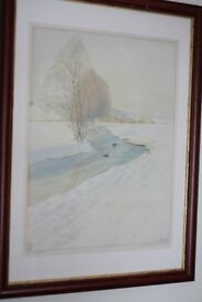 Antique Anton Gluck Framed Lithograph