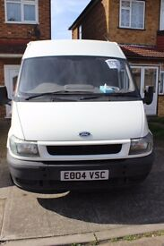 2004 Ford Transit Van Mid High MWB Ply lined in rear. 1998cc No MOT ideal for brakage spear parts
