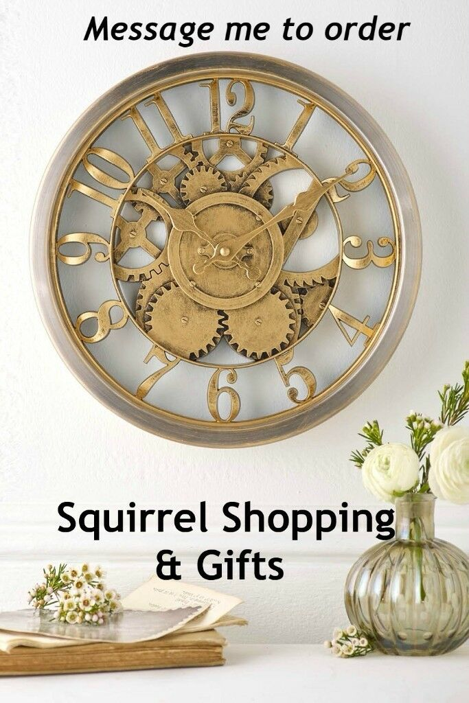 Gold Effect Clock - NEW & BOXED
