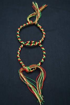 Lot de 2 Bracelets Brésiliens - RASTA -REGGAE (16 cm) 1