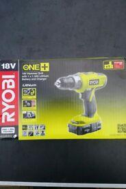 NEW in BOX RYOBI ONE+ CORDLESS 18V 1.3AH LI-ION COMBI HAMMER DRILL 1 BATTERY LLCDI1802-L13G