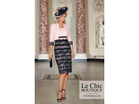 CONDICI Mother of the bride outfit size 14 with fascinator and shoes VGC- pink navy