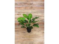 New House Plant Ceramic Planter Tree Lifelike Artificial Silk Home Decoration 45cm