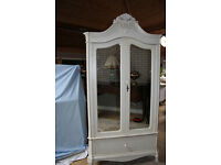 beautiful french style shabby chic cream double mirrored wardrobe