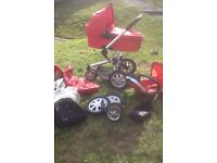 Quinny buzz 3-1 pushchair red