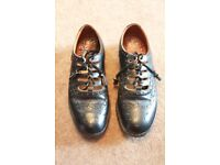 Mens Black Kilt Ghillie Shoes Size 7
