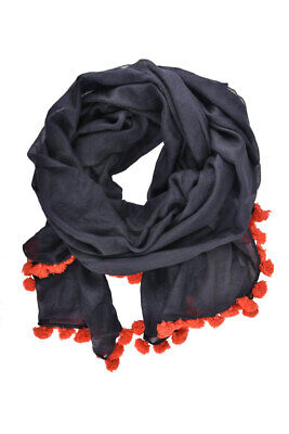 Jane Carr Womens Soft Scarf Wool Blue Size OS