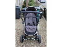 iCandy Strawberry pram and pushchair / stroller with carry cot in grey