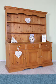 QUALITY MADE SOLID PINE 5 FT WELSH FARMHOUSE DRESSER - CAN COURIER