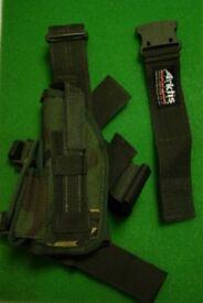 Brand New - DPM Artkis Military Pistol Drop Leg Holster (Left Leg)