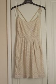 MANGO - summer cream dress - size XS - £15 - Never been worn!