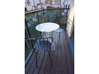 Table + 2 chairs IKEA outdoor LÄCKÖ