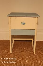 Vintage Sewing Box / Table - Shabby Chic