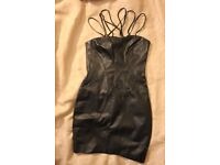 new warehouse leather dress size 6 (100% leather)