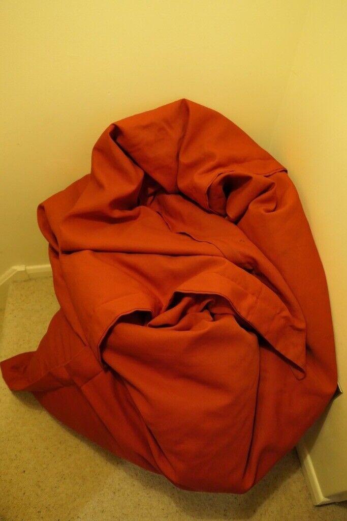 Phenomenal Jumbo Red Bean Bag Chair Bed In Cambridge Cambridgeshire Gumtree Creativecarmelina Interior Chair Design Creativecarmelinacom