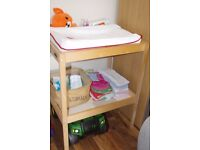 Ikea Baby Changing Table + Mat + 2 Covers