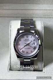 Rolex date just stainless steel 36mm luxury automatic watch brand new in Swiss box classic style
