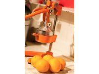 oneConcept EcoJuicer XXL Juicer Lever Mechanism Orange