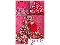 3 x girls dresses 4-5y