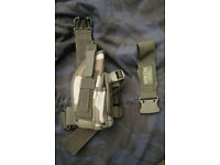 Brand New - Artkis - RIGHT Leg Holster Military Pistol - CCE Woodland Camo
